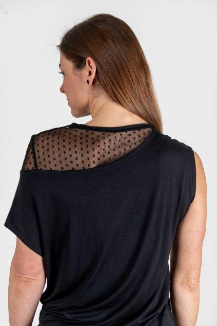Dámské šaty Leea černé s krajkou Goci