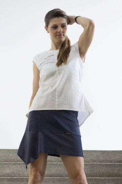 Dámská sukně tunic modrá s cípem Goci