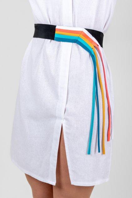 Dámský barevný pásek na gumu duhový Goci