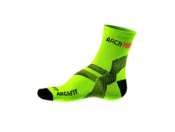 Ponožky Archfit Run - žltá