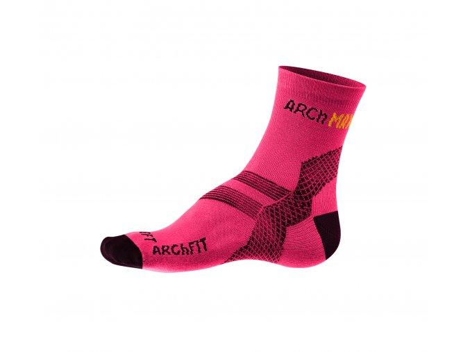 Ponožky Archfit Run - ružová