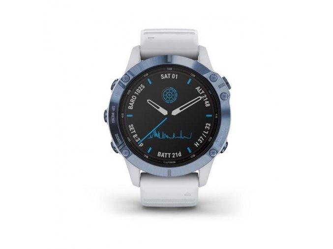 fenix 6 Pro Solar, Mineral Blue, Whitestone Band 1