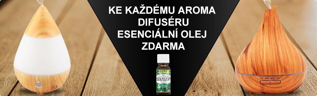 Aroma difuséry + esenciální olej zdarma