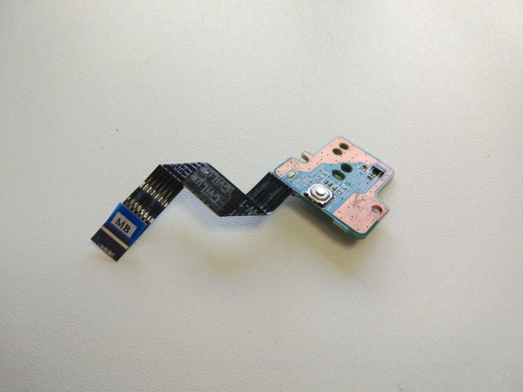 HP 635 tlačítko zapínání