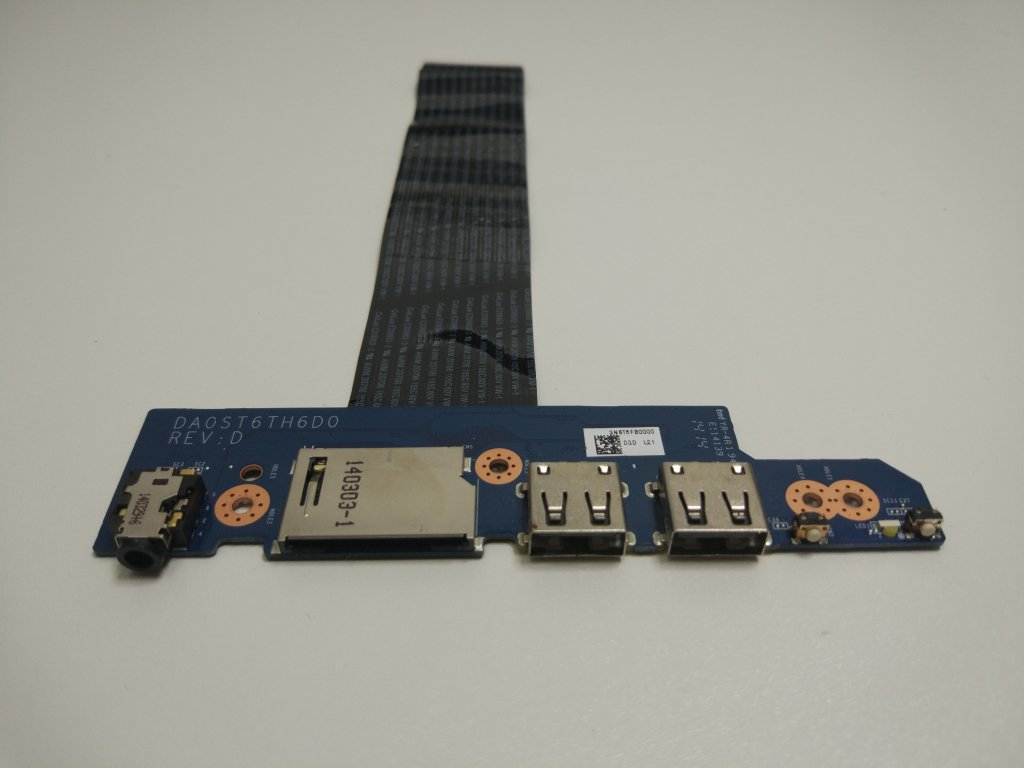 Lenovo Flex 15 USB SD Audio Jack konektory
