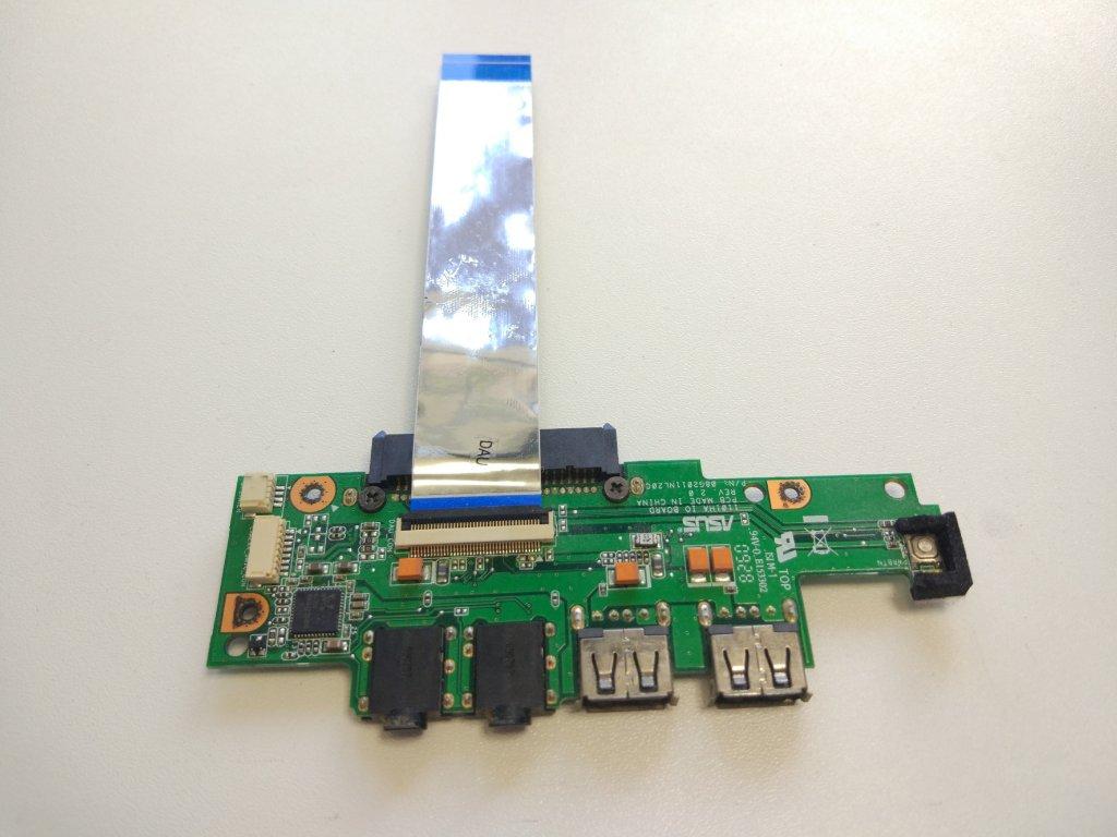 Asus Eee PC 1101HA USB audio jack konektory