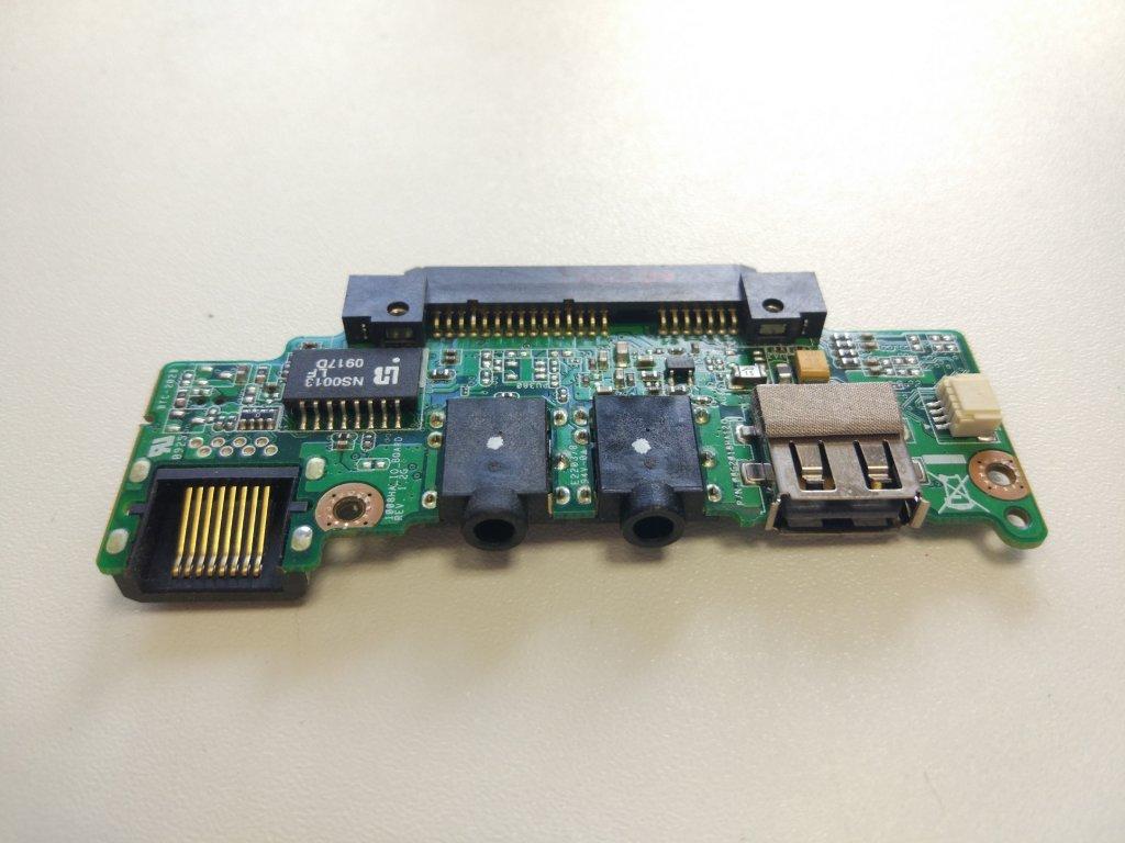 Asus Eee PC 1008HA USB audio jack RJ45 konektory