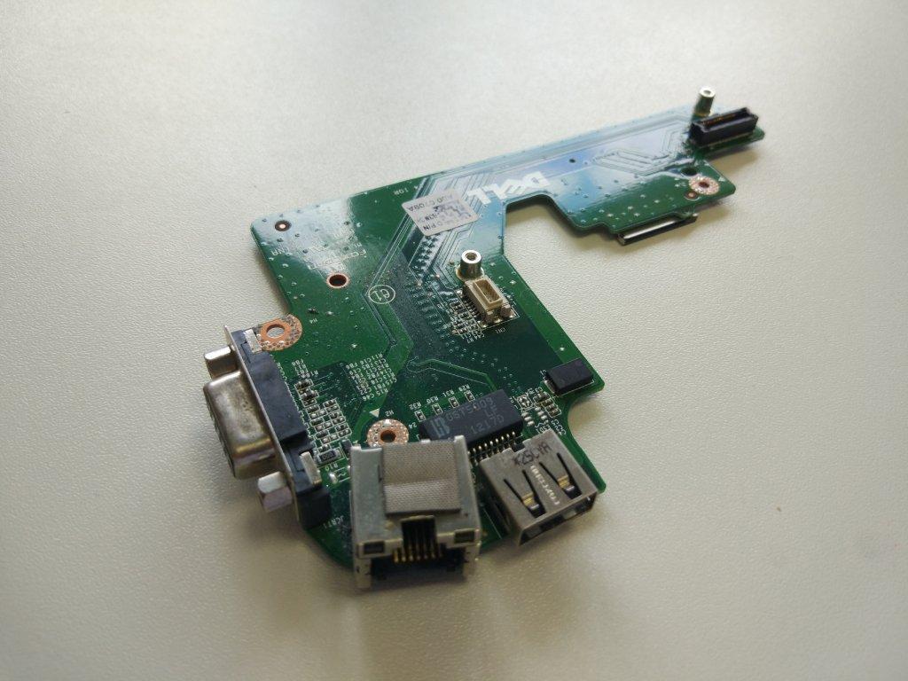 Dell E5420 USB VGA RJ45 konektory board SIM