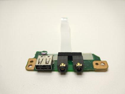 Toshiba Qosmio F60 USB audio jack konektory