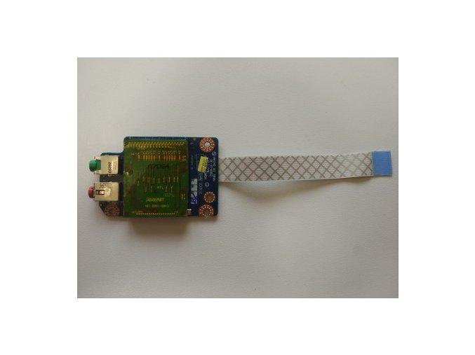 Lenovo Z565 - čtečka SD karet + audio jacky 3,5mm