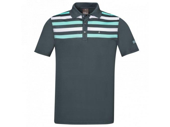 Oscar Jacobson Domingo Pin Poloshirt blue 63193039 210 front normal