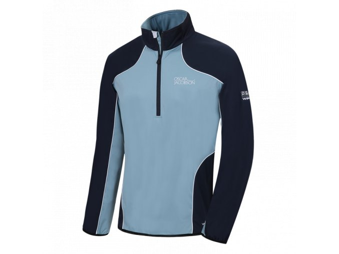 Oscar Jacobson Marco Tour Half Zip Smokeblue 81496881 202 Front normal
