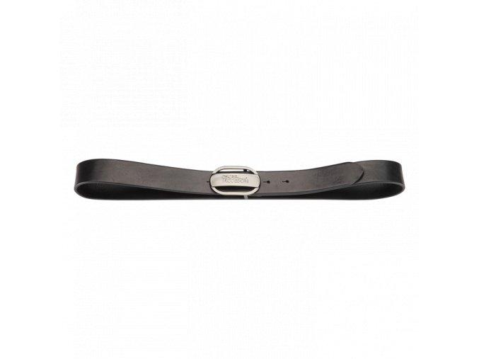 Oscar Jacobson Logo Buckle Belt Black 92973052 310 Front normal