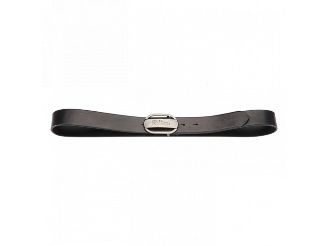 Oscar Jacobson Logo Buckle Belt Black 92973052 310 Front normal