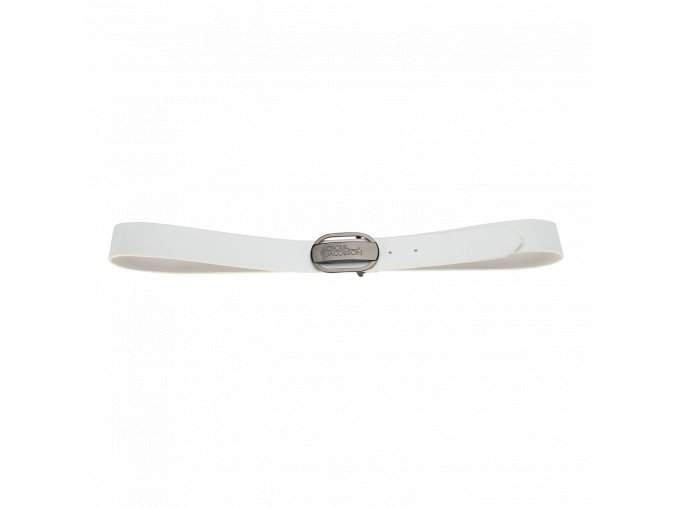Oscar Jacobson Logo Buckle Belt White 92973052 921 Front