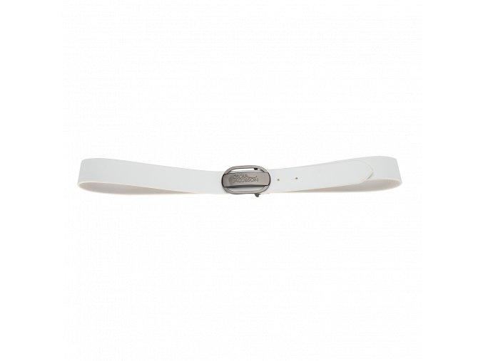 Oscar Jacobson Logo Buckle Belt White 92973052 921 Front