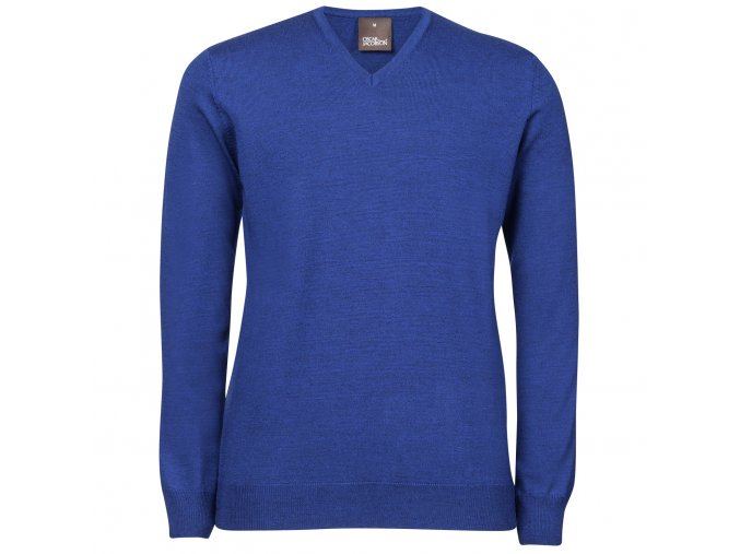 Oscar Jacobson Wyatt V neck blue 66176768 248 front