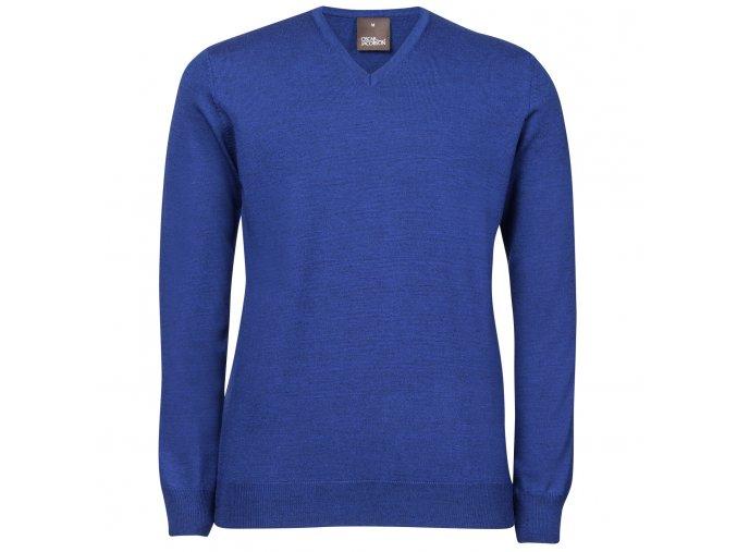 Oscar Jacobson Wyatt V neck blue 66176768 248 front