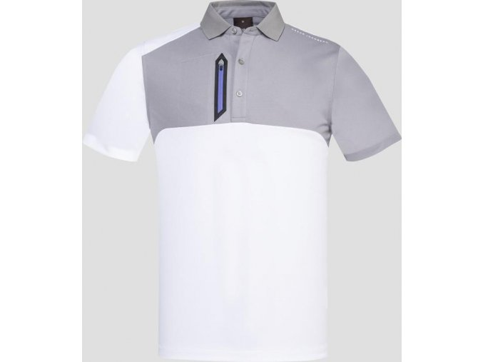 Oscar Jacobson Dapper Course poloshirt grey 65539058 164 front normal