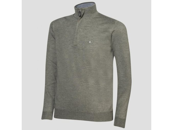 Oscar Jacobson Heron Pin Half zip green 61106768 831 front normal