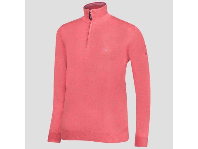 Oscar Jacobson Waldorf Pin Half zip red 68213448 657 front normal