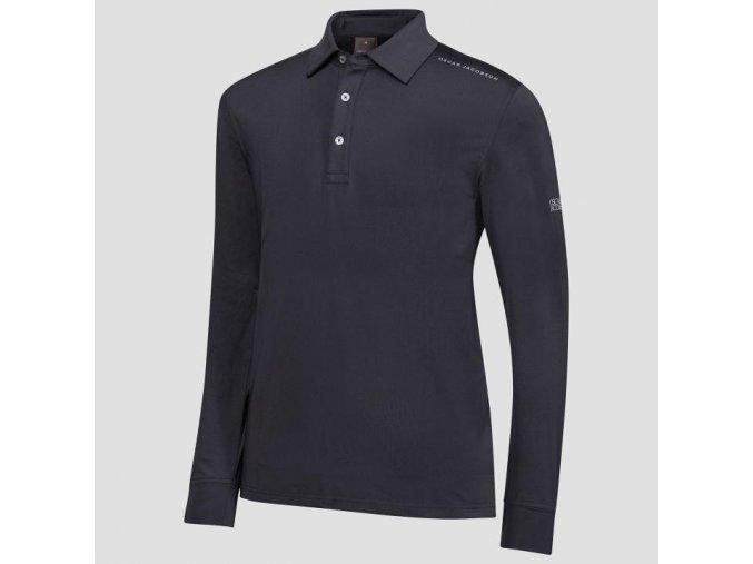 Oscar Jacobson Chauncery course Poloshirt black 62044292 311 front normal