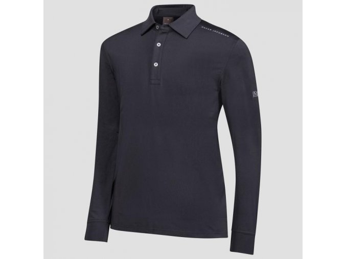 Oscar Jacobson Chauncery course Poloshirt black 62044292 311 front normal