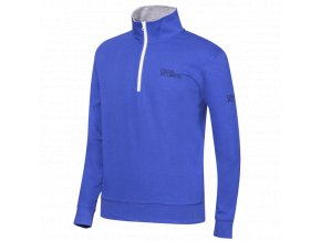 Oscar Jacobson Bradley Tour Half zip blue 63027699 248 front normal