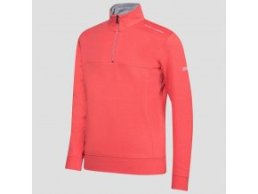 Oscar Jacobson Hawkes Course Half zip red 68067699 657 front normal