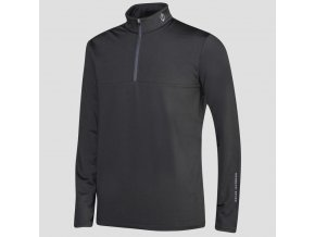Oscar Jacobson Jonathan Thermal Half zip black 68148925 310 front normal