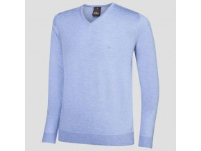 Oscar Jacobson Wyatt Pin V neck blue 67066768 299 front normal