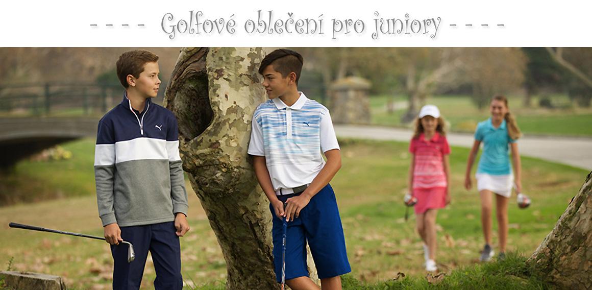 Juniorské golfové oblečení a doplňky