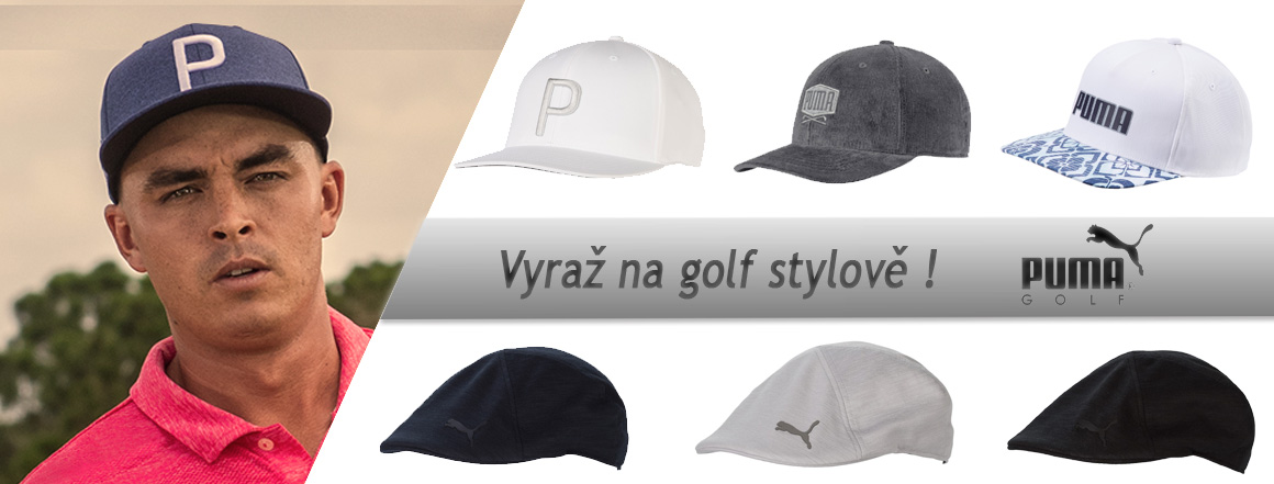 Stylové pánské golfové čepice Puma