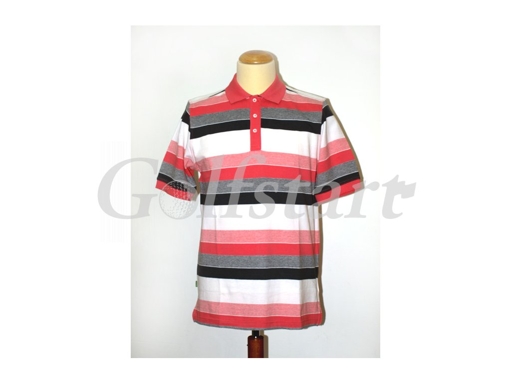 BackTee pánské golfové tričko Pique Polo s pruhy