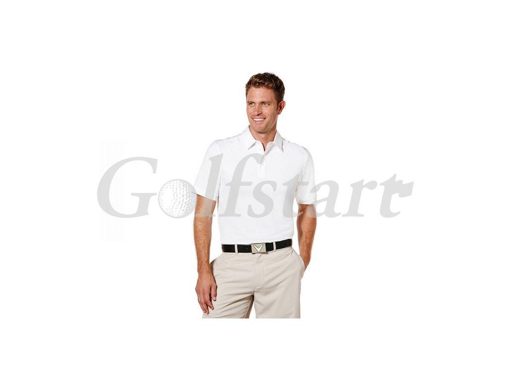 Callaway Poly Polo pánské golfové tričko bílé