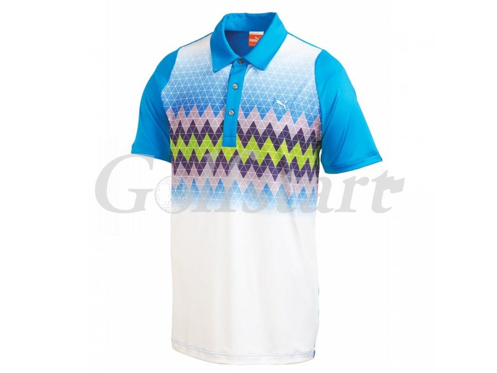 Puma Graphic Stripe pánské golfové tričko modré