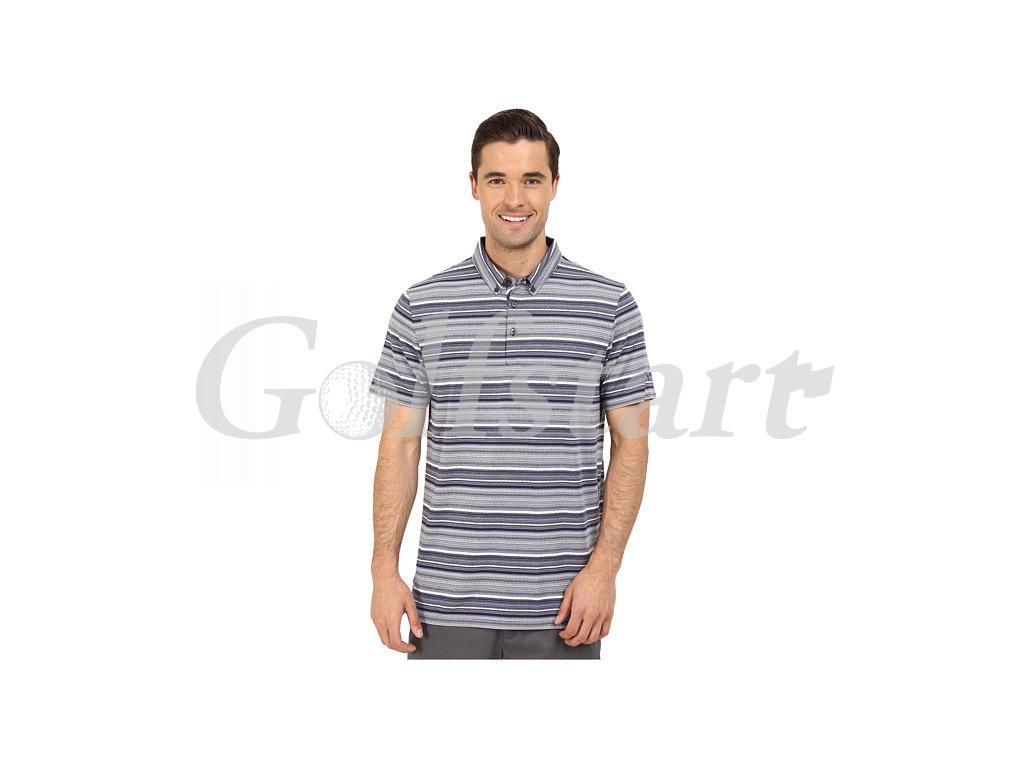 Puma Tailored Multistripe pánské golfové tričko tmavě modré
