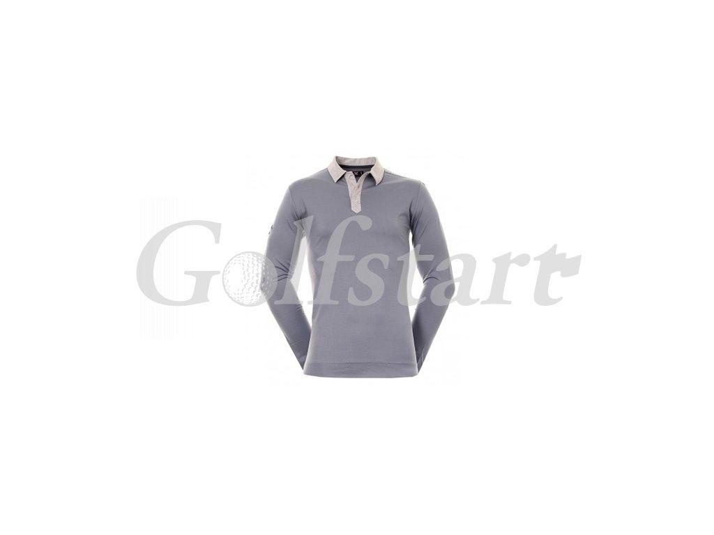 Callaway pánské golfové tričko s dlouhým rukávem šedé