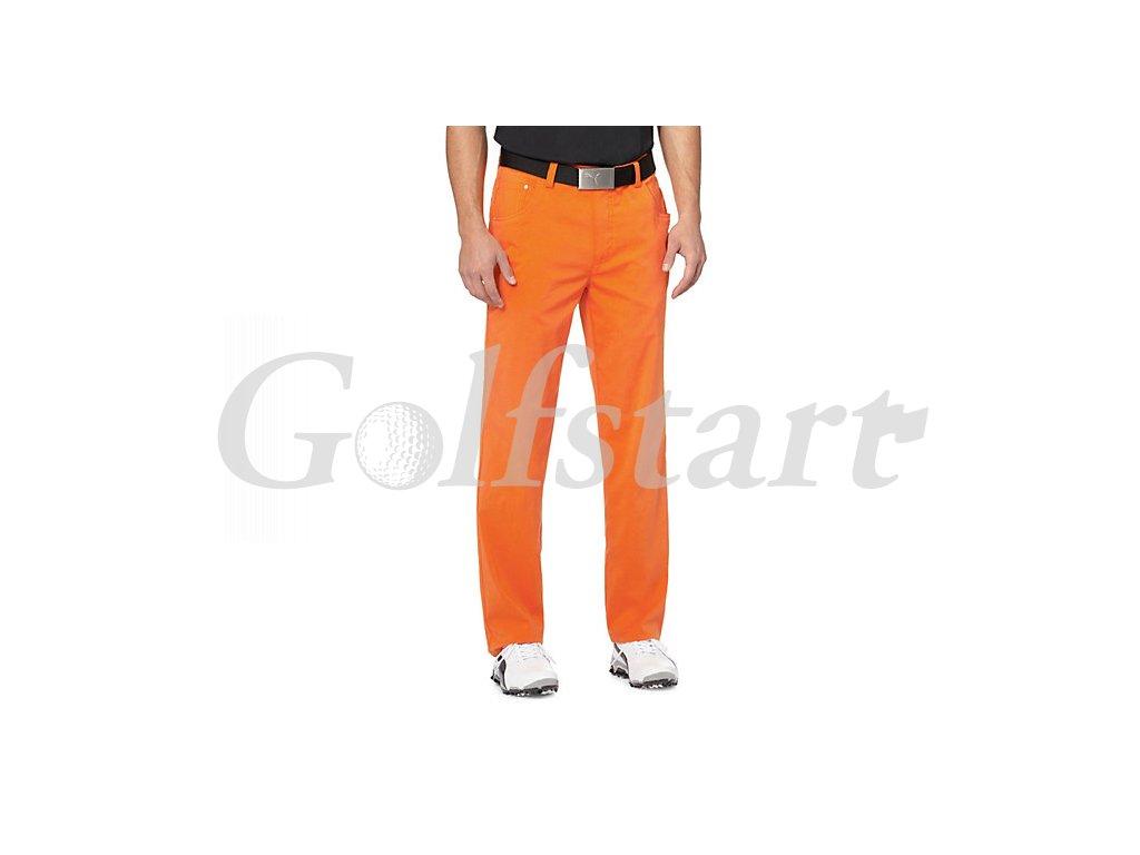 Puma 6 Pocket pánské golfové kalhoty - oranžové