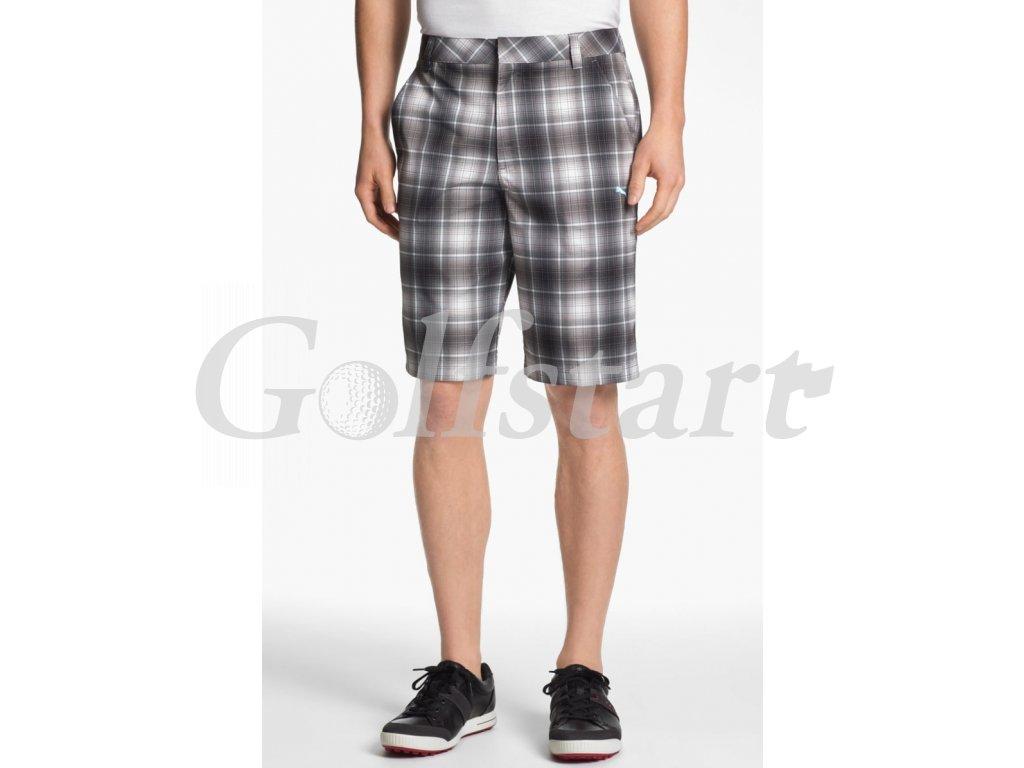 Puma pánské golfové kraťasy s kostkami černé
