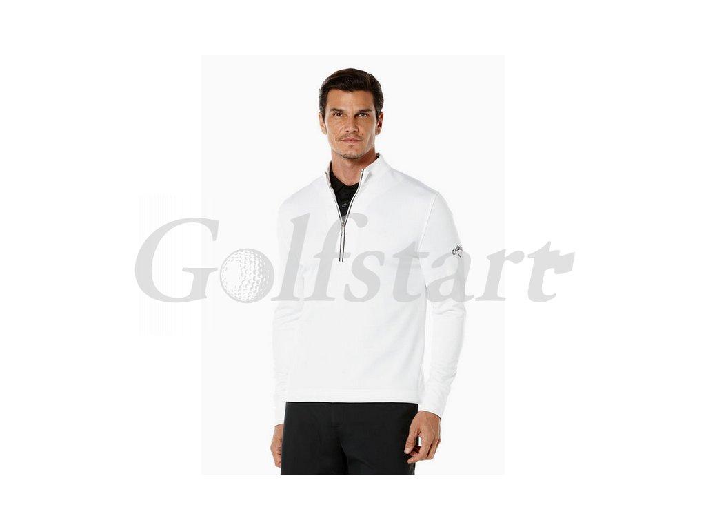 Callaway 1/4 Zip termo pánská golfová mikina bílá