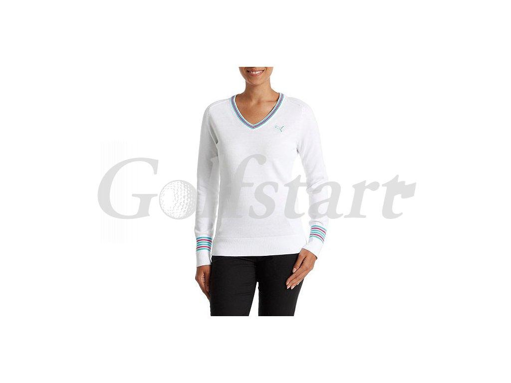 Puma dámský golfový svetr bílý