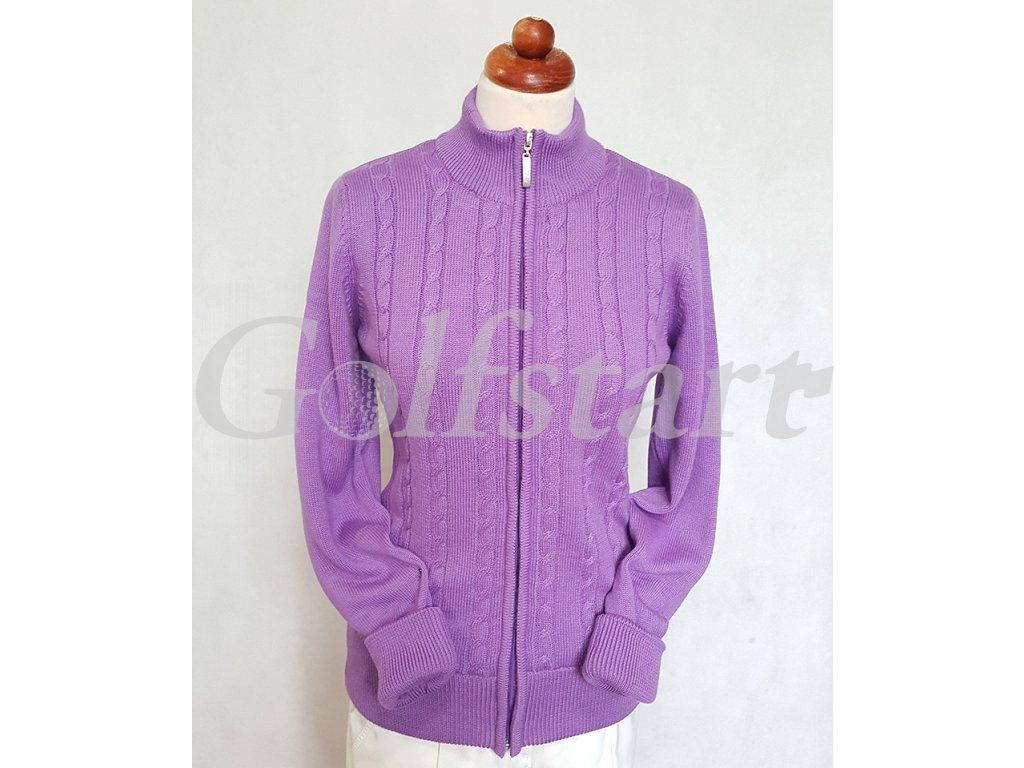 Callaway dámský funkční svetr do větru fialový