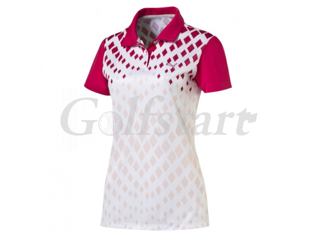 Puma juniorské golfové tričko Diamond Print
