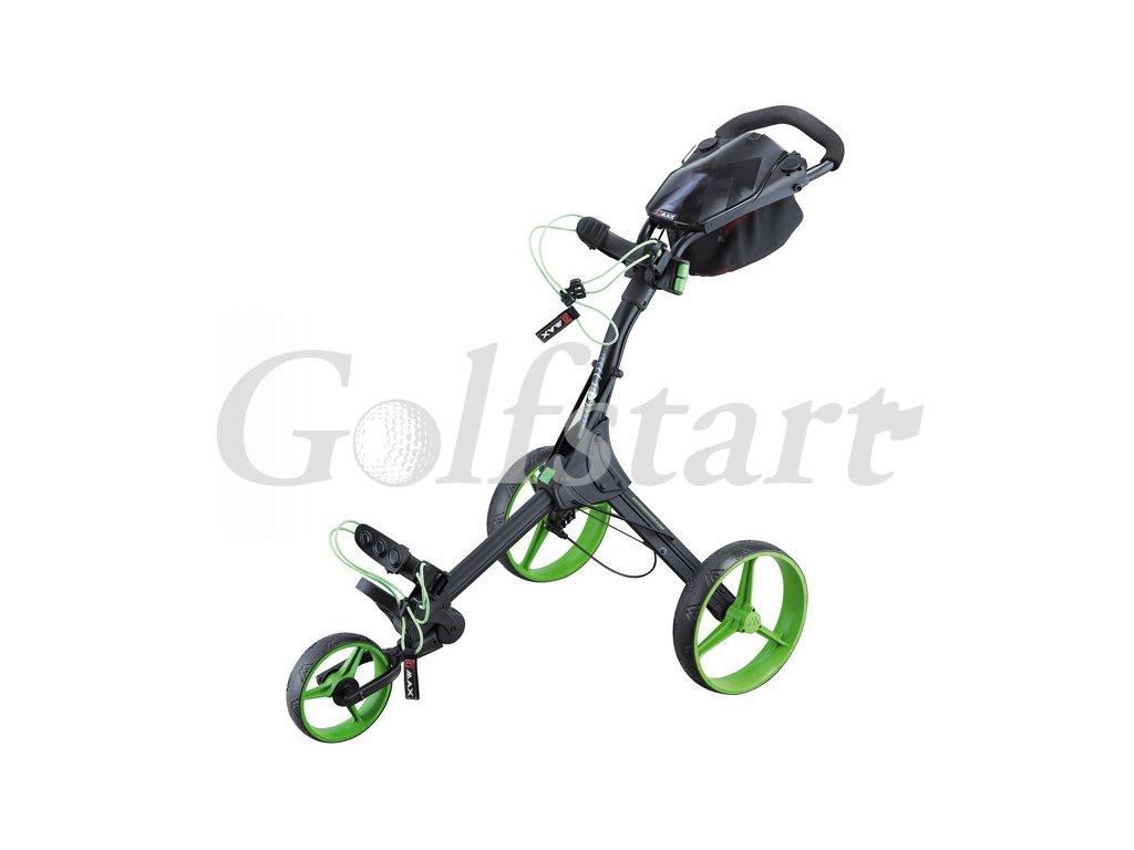 Golfový vozík BIG MAX  IQ+  černo/zelený