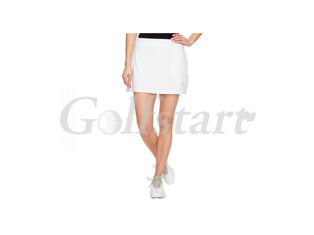 Puma Solid Knit juniorská golfová sukně bílá