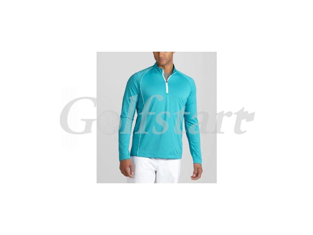 Puma 1/4 Zip tričko s dlouhým rukávem modré