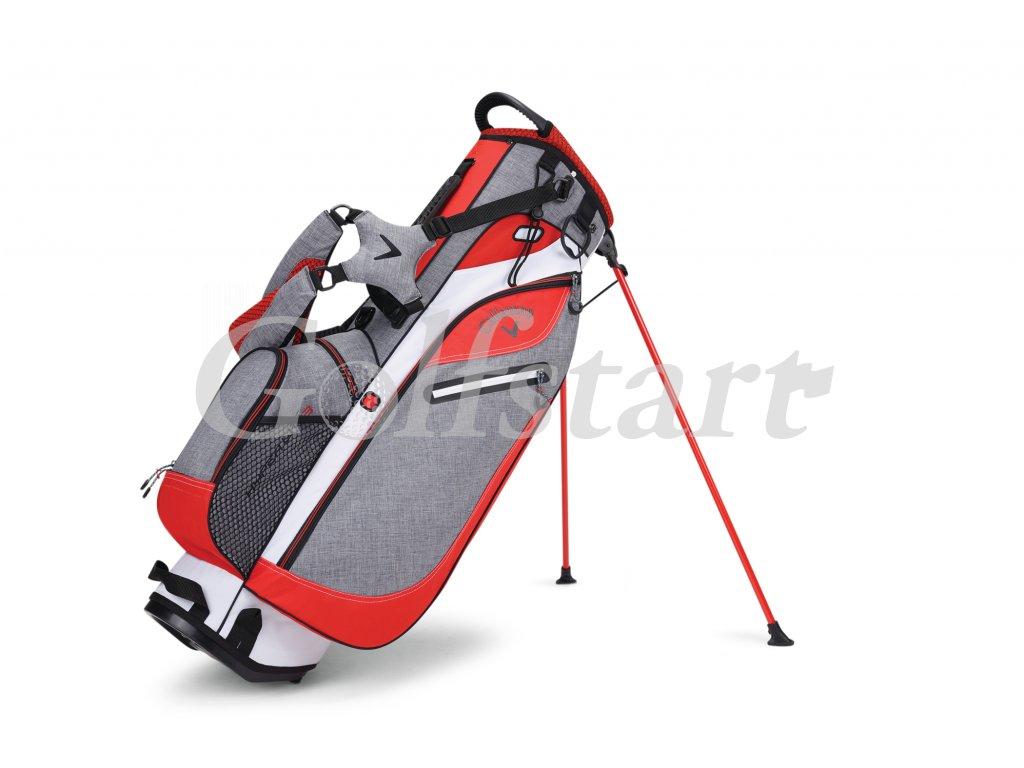 Callaway Hyper Lite 3 stand bag bílo/šedo/oranžový