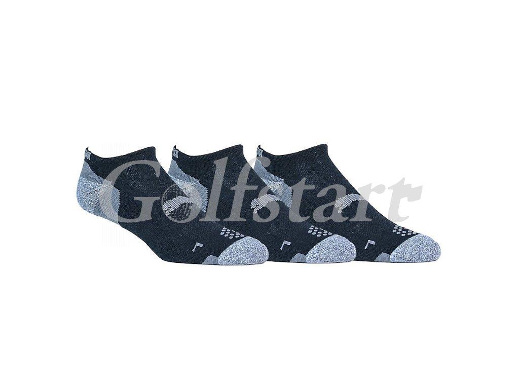Puma Low Cut golfové ponožky černé 3 páry