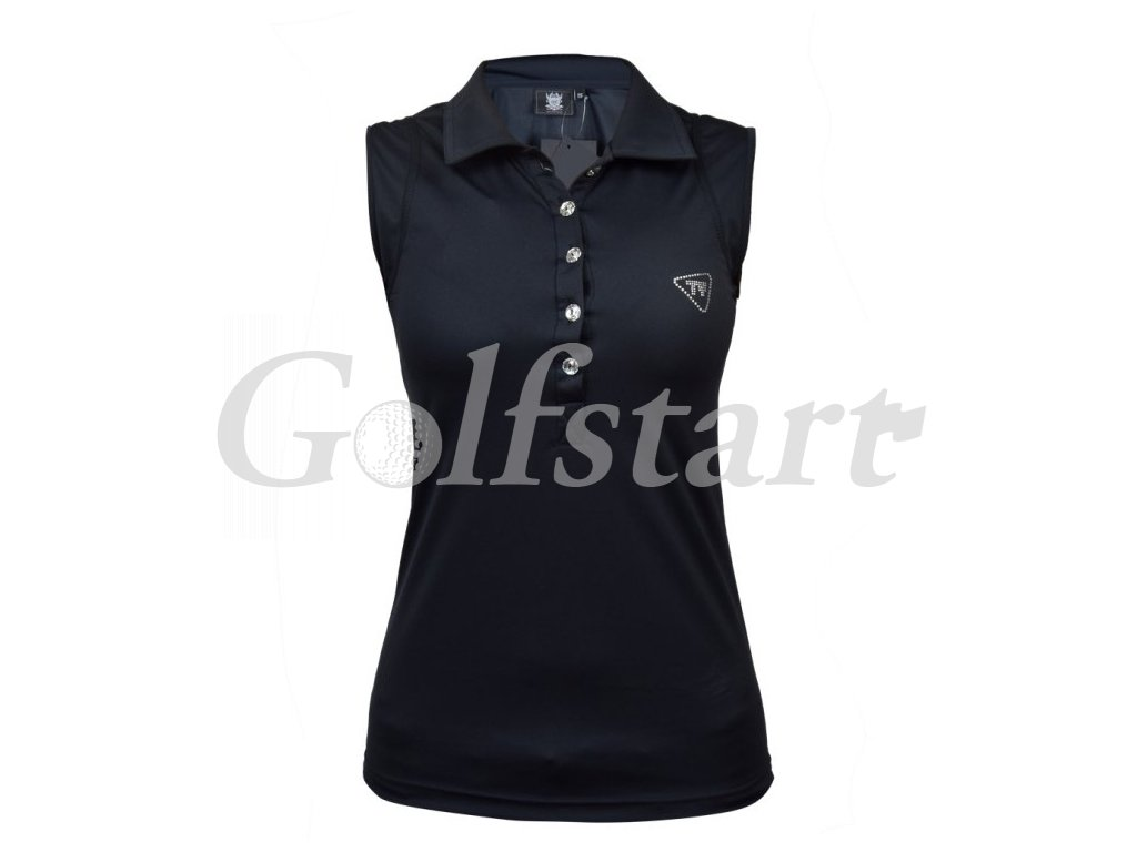 sleeveless polo blk1